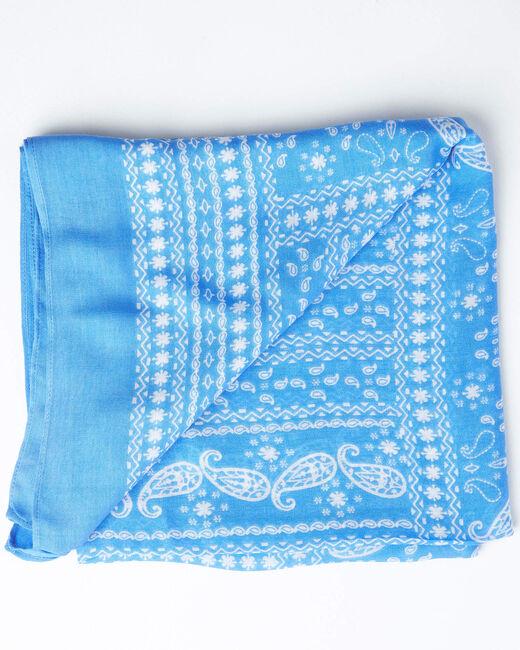 Foulard imprimé bandana bleu ciel Amor (2) - 1-2-3