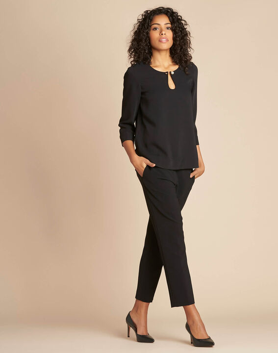 Gerry black blouse with jewel detail (2) - 1-2-3