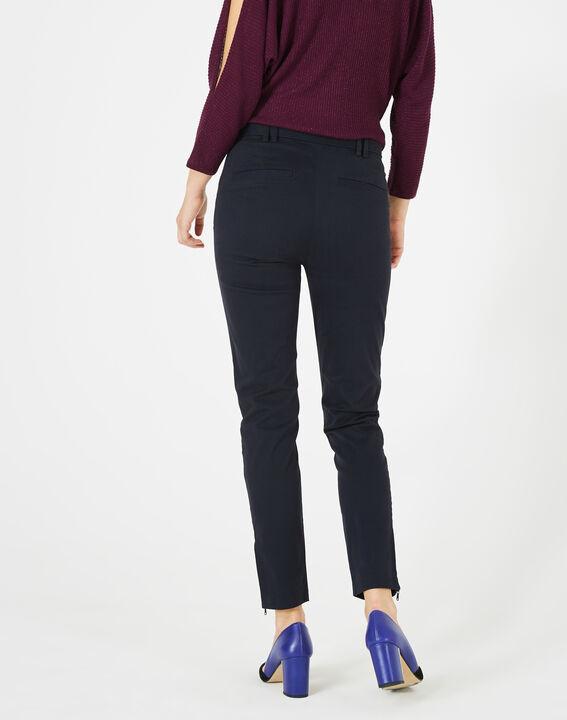 Kloe navy blue 7/8 length trousers (4) - 1-2-3