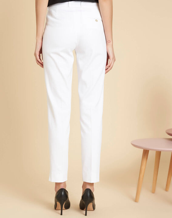 Valero white fitted trousers with pleats (4) - 1-2-3