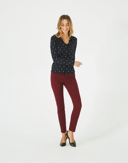 Pantalon bordeaux 7/8 Oliver 2 (1) - 1-2-3