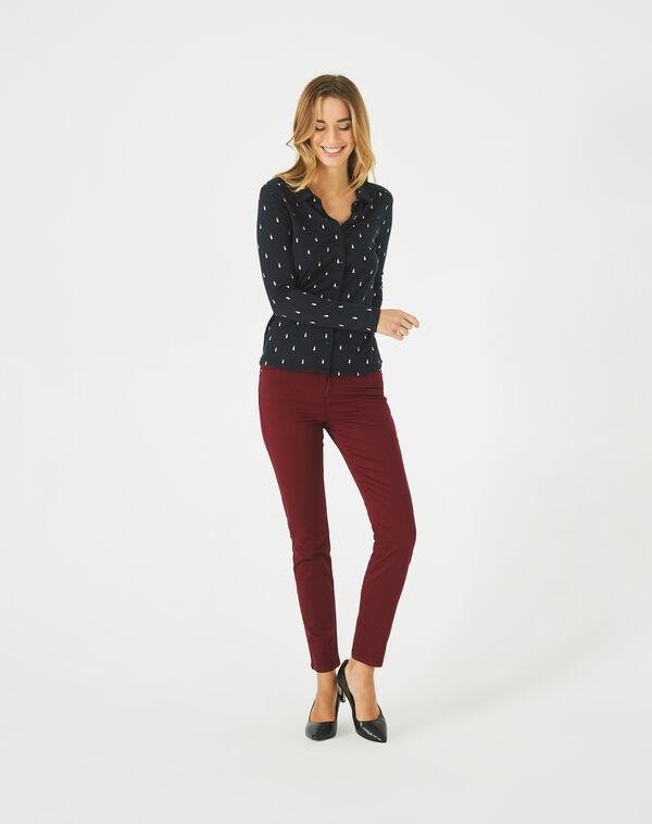 Pantalon bordeaux 7/8 oliver 2 à