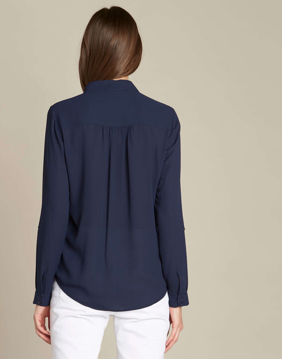 Diane navy blue lace blouse (4) - 1-2-3