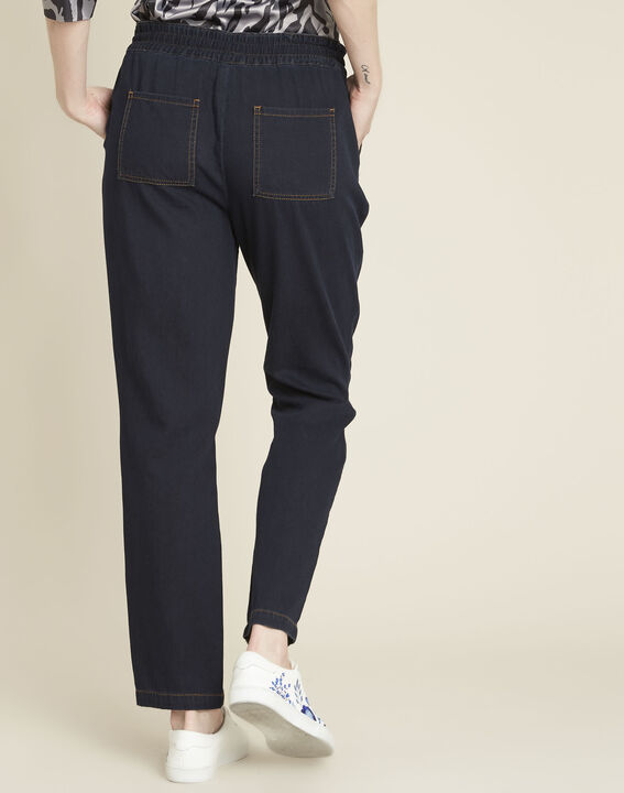 Helroy navy slim-cut drawstring trousers (4) - 1-2-3