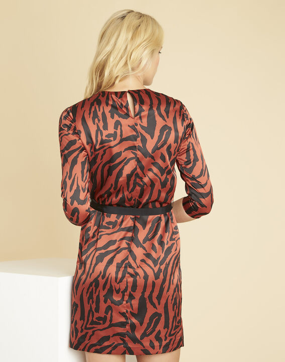 Diandra animal print dress in terracotta (4) - Maison 123