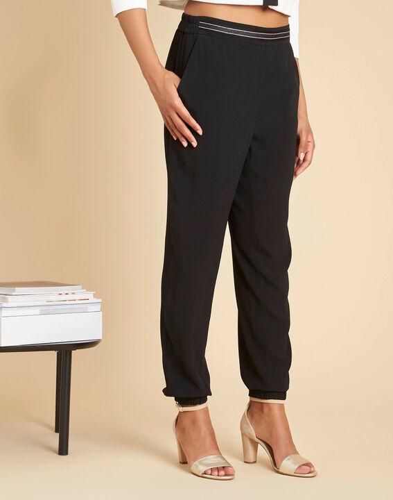 Pantalon noir fluide cheville Scoty (3) - 1-2-3