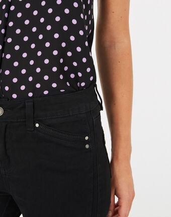Pia black 7/8 length satin trousers black.