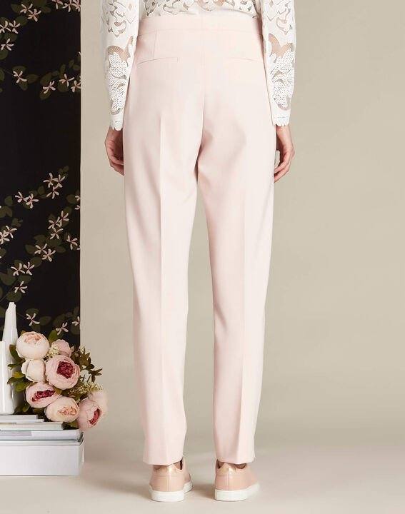 Lara nude slim-cut fitted trousers (4) - 1-2-3