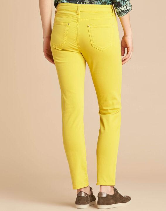 Zitronengelbe Slim-Fit-Jeans normale Leibhöhe Vendome (4) - 1-2-3