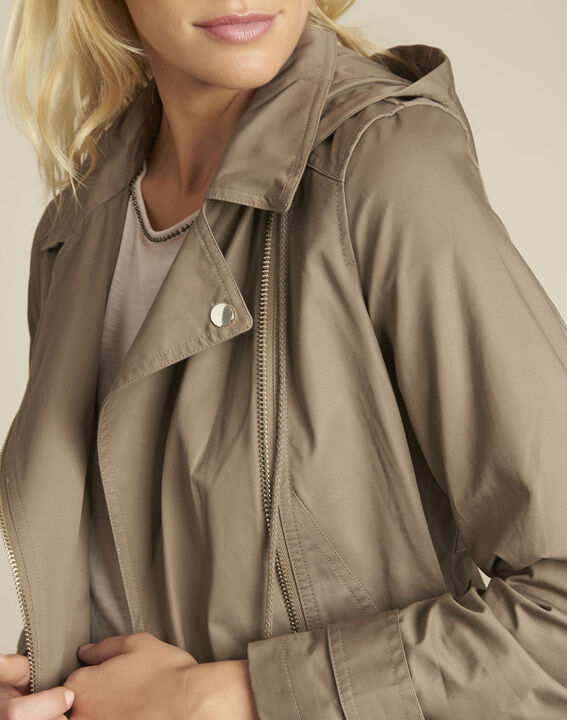 Ella khaki cotton trenchcoat (3) - Maison 123