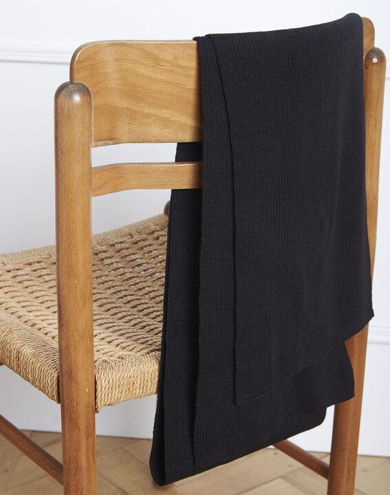 Echarpe en laine mélangée noire Gloraline PhotoZ | 1-2-3