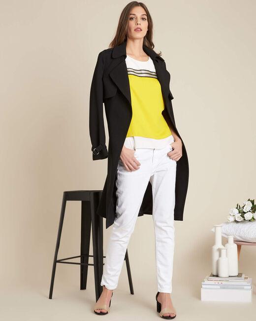 Gloriosa sleeveless yellow flowing top (1) - 1-2-3