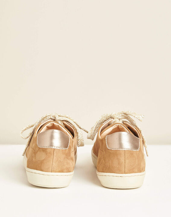 Kamille dual-fabric camel trainers (4) - 1-2-3