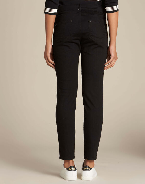 Passy black slim-cut braided jeans (4) - 1-2-3