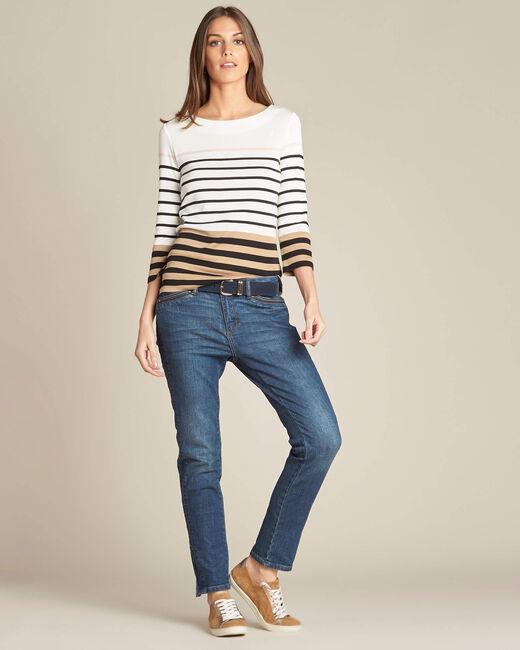 Esayat striped ecru T-shirt (1) - 1-2-3