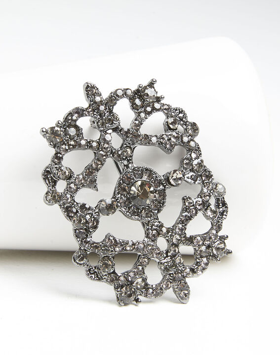 Xena silver plated brooch with stones (2) - 1-2-3