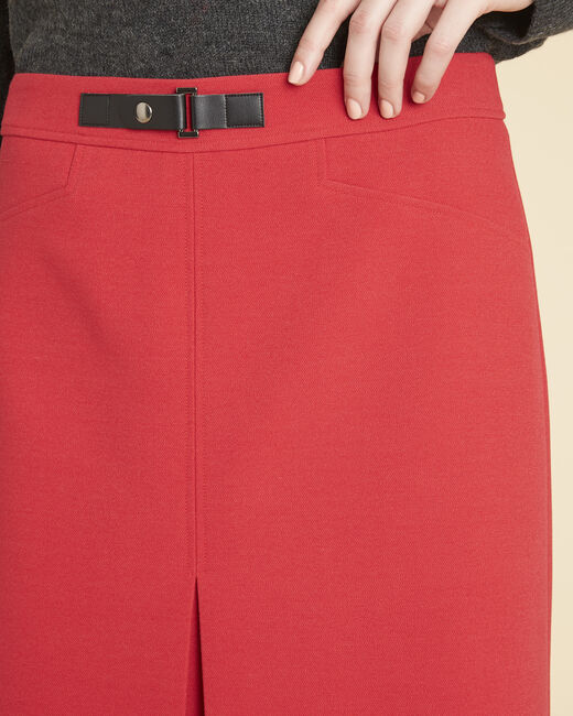 Angel tight red skirt with buckle (2) - 1-2-3