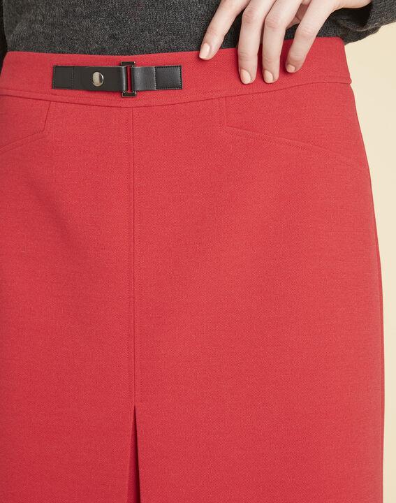 Rode compacte rok met gesp Angel (3) - 37653