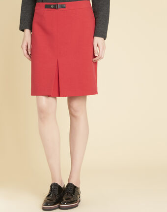 Angel tight red skirt with buckle red.