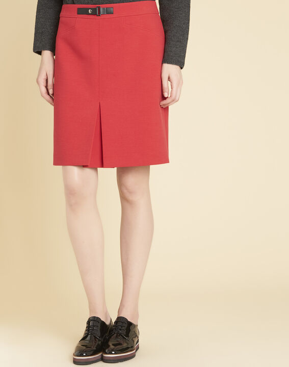 Angel tight red skirt with buckle (1) - 1-2-3