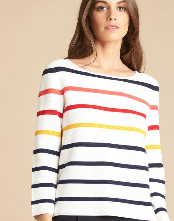 Nacadamia white striped ottoman sweater PhotoZ | 1-2-3