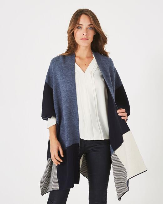 Panache navy blue check cape (1) - 1-2-3