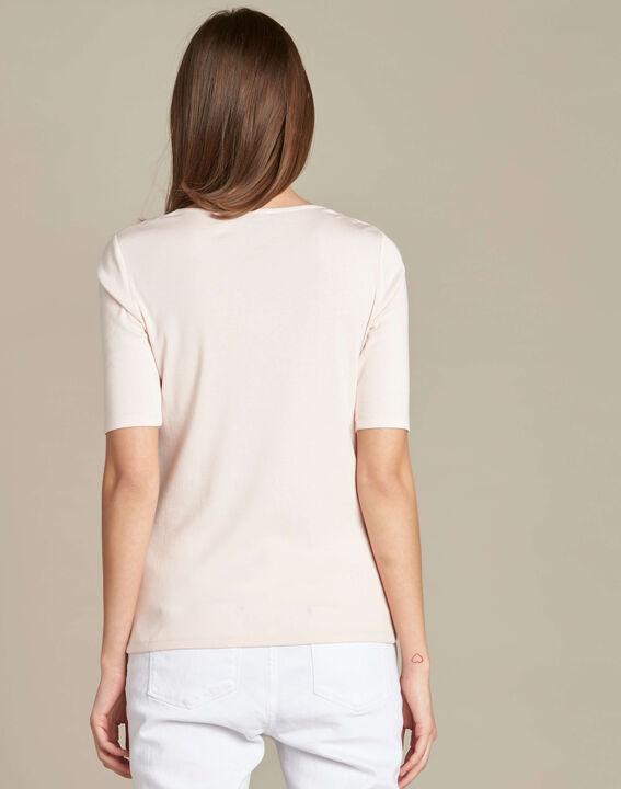 Blassrosa T-Shirt mit Ösen an der Schulter Ecume (4) - 1-2-3