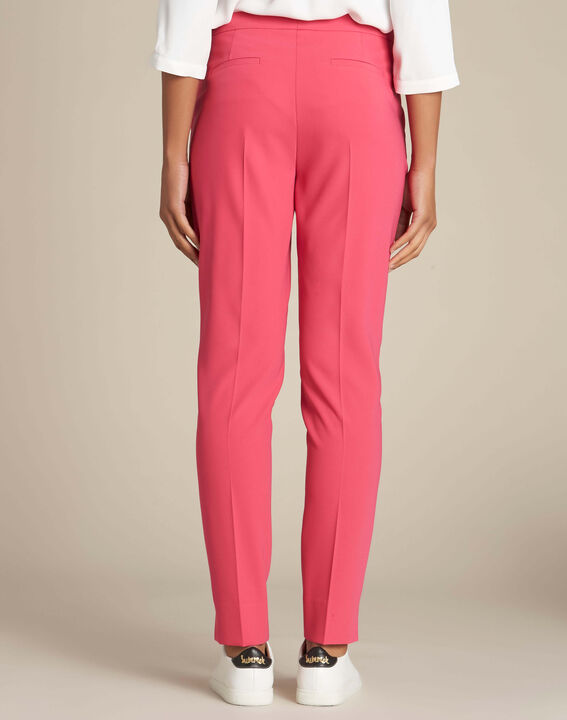 Lara red slim-cut fitted trousers (4) - 1-2-3