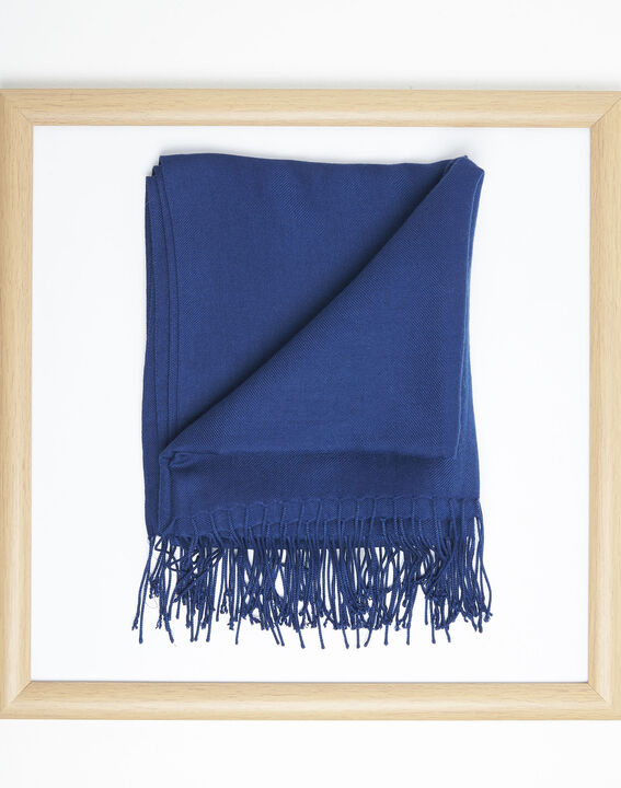 Fossette sapphire viscose fringed scarf  (2) - 1-2-3