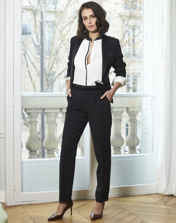 Pantalon noir cigarette Horest (1) - 1-2-3