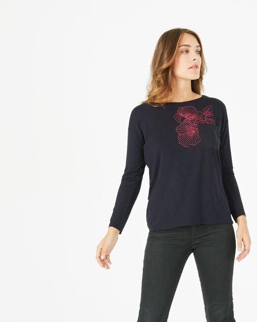 T-shirt broderie florale Bacchus (1) - 1-2-3