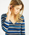 Portland striped blue sweater with rounded neckline PhotoZ | 1-2-3