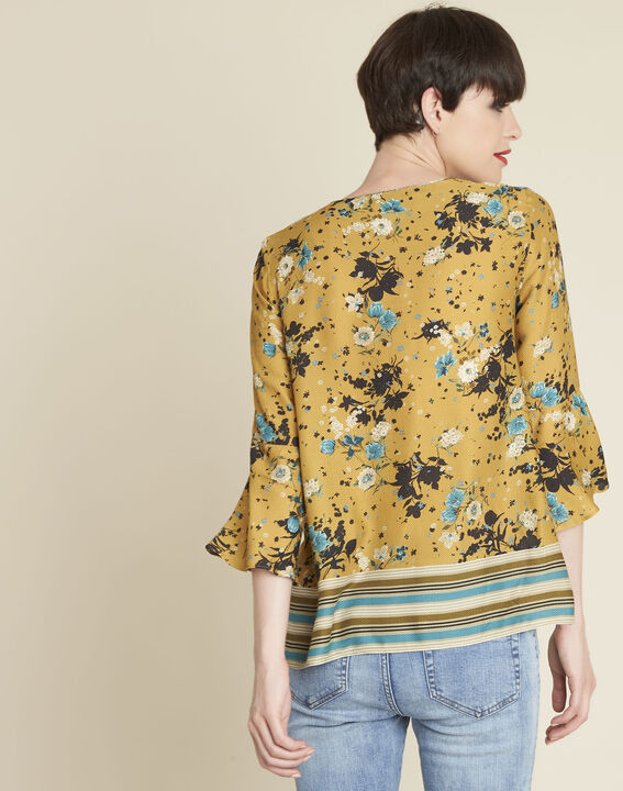 Enrica yellow floral printed blouse (4) - 1-2-3