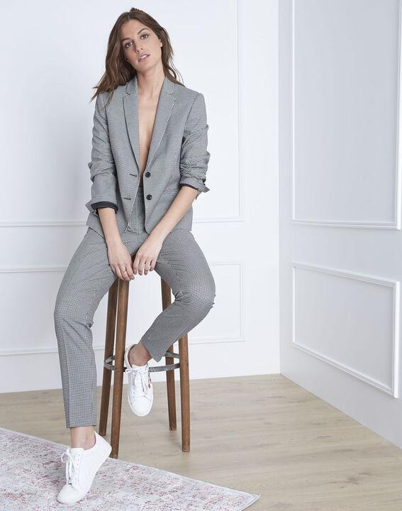 Taillierte Jacke mit Vichy-Print Fiona (2) - Maison 123