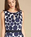 Blaues Kleid mit Tupfen-Print Isis PhotoZ | 1-2-3