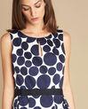 Blaues Kleid mit Tupfen-Print Isis (1) - 1-2-3