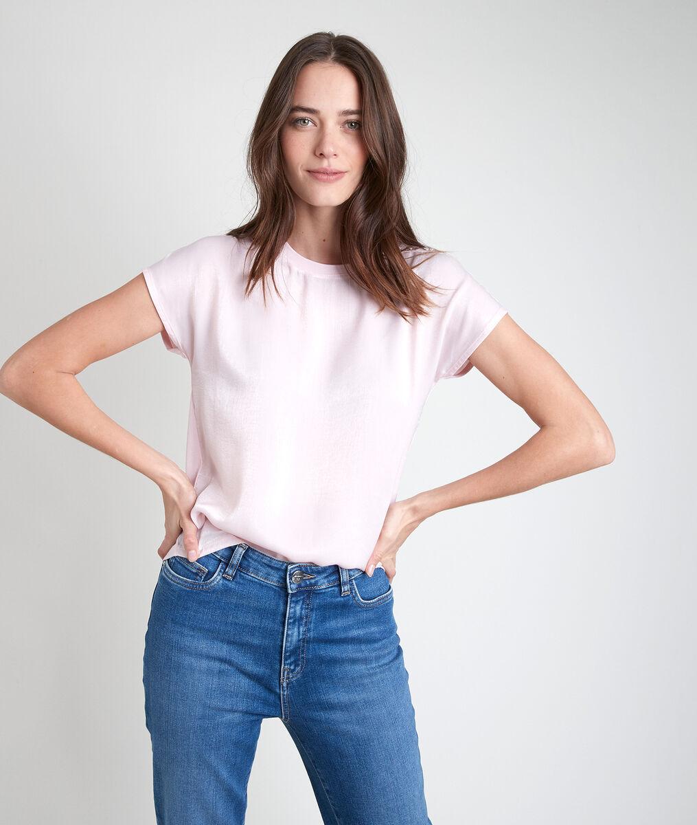 Tee-shirt bimatière rose Willa PhotoZ | 1-2-3