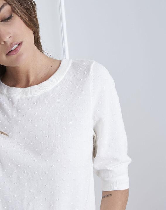 Pull blanc cassé détail noeud Adriana (3) - Maison 123