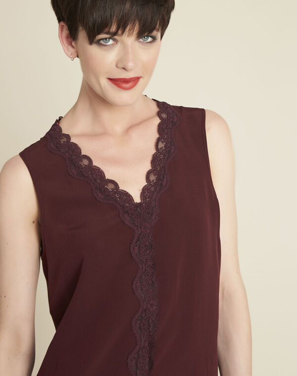 Clelia red silk top (2) - 1-2-3
