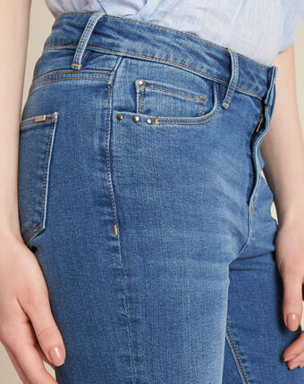 Gebleichte slim-fit-jeans vendome helles indigoblau.