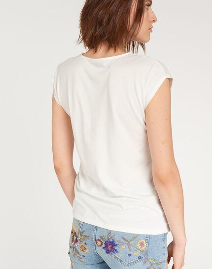 Tee-shirt écru imprimé fleuri Nalma (4) - 1-2-3