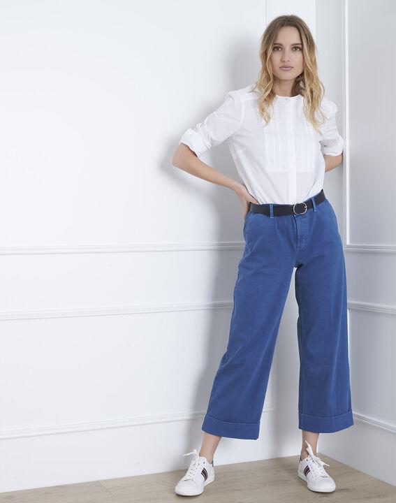 Kurze, ausgestellte Jeans in hellem Indigo-Blau Clara (1) - Maison 123