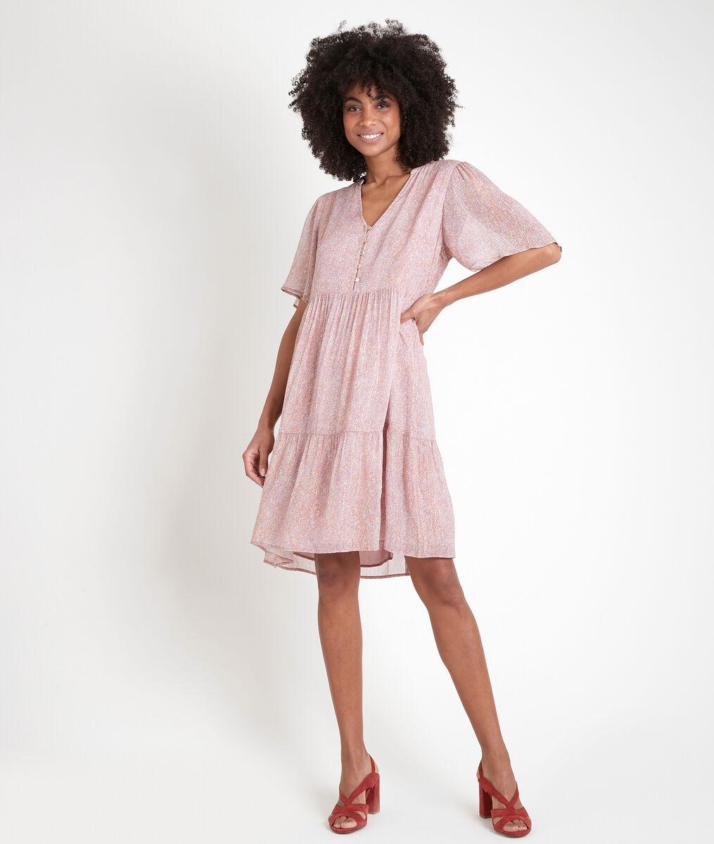 Robe imprimée lurex Laure PhotoZ | 1-2-3