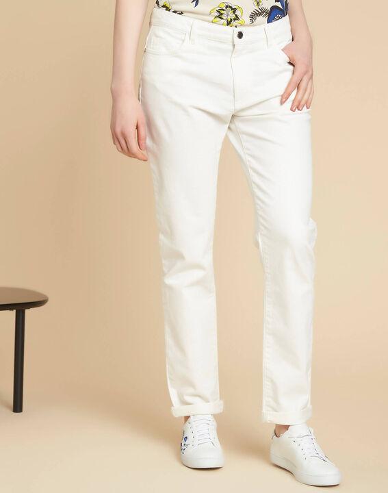 Jean blanc boyfriend taille basse Vavin (3) - 1-2-3