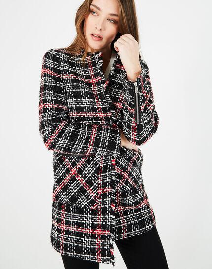 Manteau à carreaux en tweed Joly (2) - 1-2-3