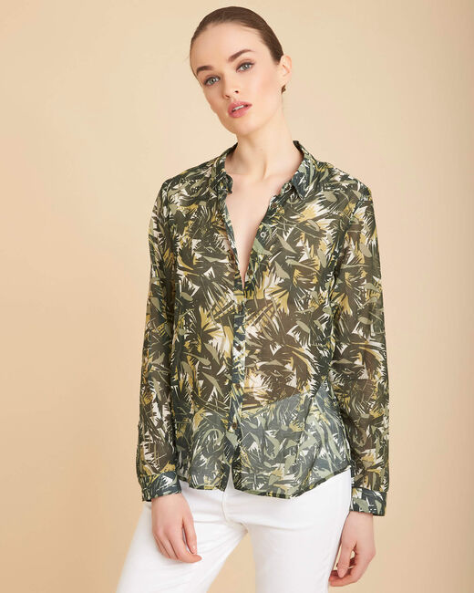 Ravel camouflage printed blouse (2) - 1-2-3