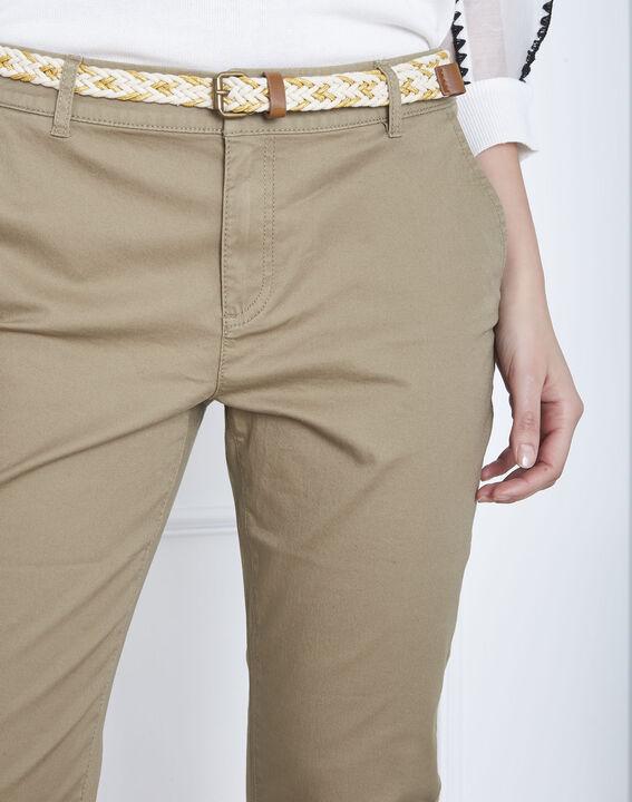Pantalon kaki chino ceinture fantaisie Francis (3) - Maison 123