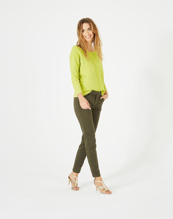 Pop yellow sweater with stunning stitchwork (5) - 1-2-3