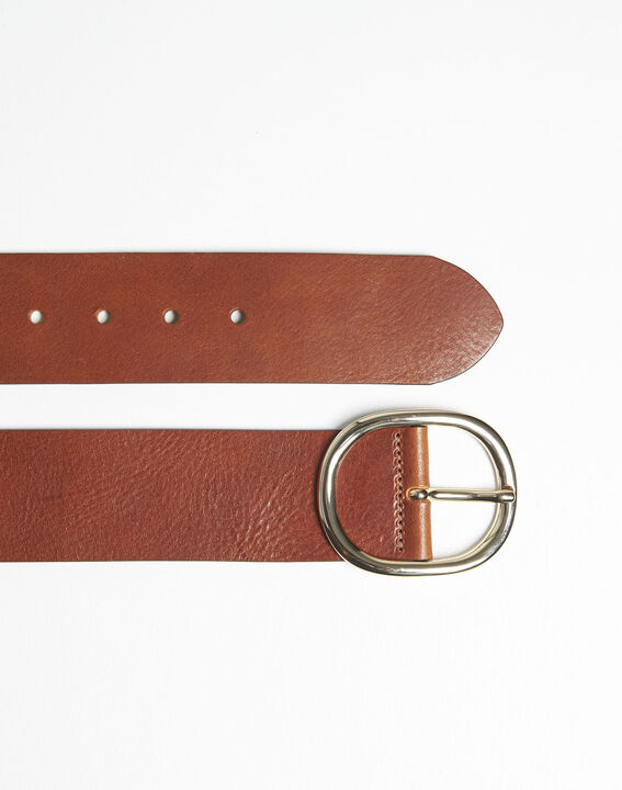 Ceinture marron large en cuir Quesia PhotoZ | 1-2-3