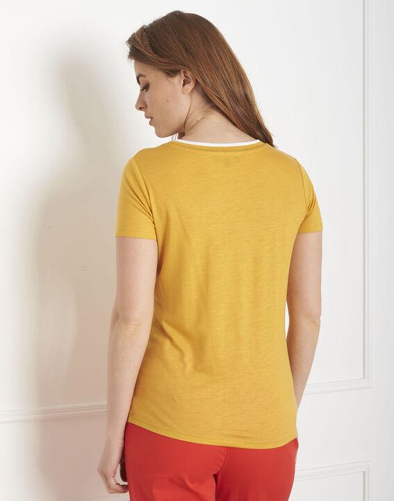 Tee-shirt jaune bord côte Passo (3) - Maison 123